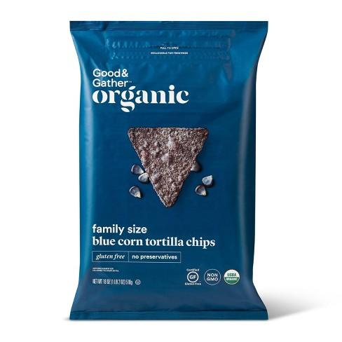Organic Blue Corn Tortilla Chips - 18oz - Good & Gather™ - image 1 of 3