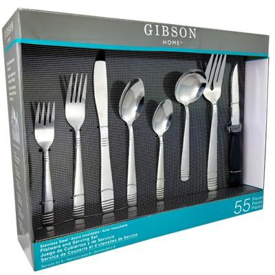 Gibson Home Palmore Plus 55 Piece Flatware Set