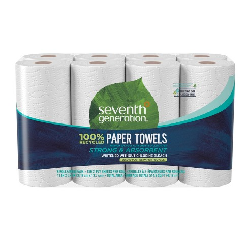 Seventh Generation 100% Recycled Paper Towels - 8 Rolls - image 1 of 4