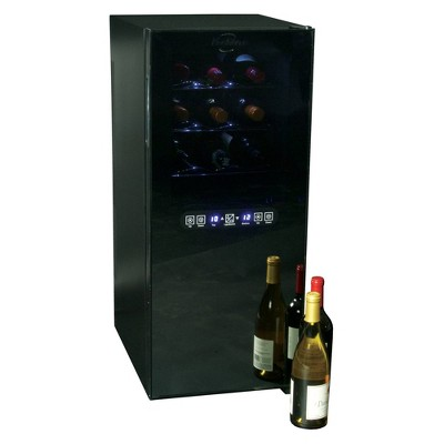 Koolatron 24-Bottle Dual-Zone Wine Cooler - Black