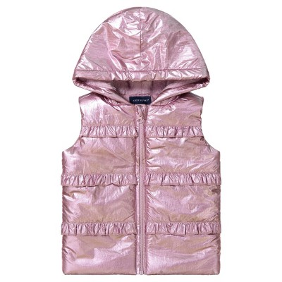 Andy & Evan  Toddler  Girls Hooded Sherpa Vest