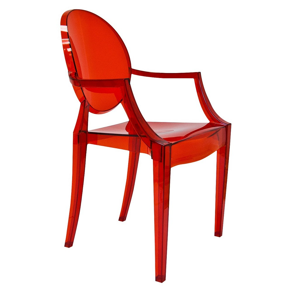 Aeon Specter Polycarbonate Arm Chair - Red (Set of 2)