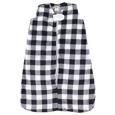 Hudson Baby Unisex Baby Plush Sleeping Bag Sack Blanket - Black Plaid 18-24M