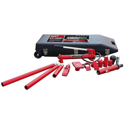 Torin Big Red T71001L 10 Ton Hydraulic Portable Ram Auto Body Repair Kit w/ Case