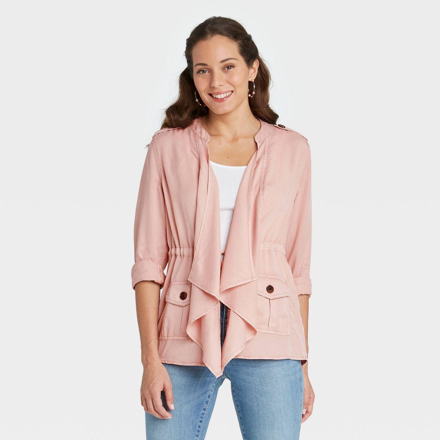 Women's Long Sleeve Drapey Cargo Wrap Jacket - Knox Rose™  - image 1 of 4
