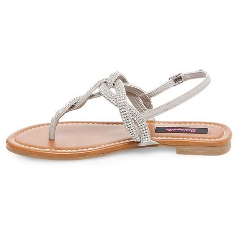 83cb1382472 Women's Betseyville Brenda Embellished Flat Sandals - Gray