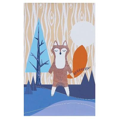Lolli Living Fox Canvas Art - Brown/Blue(10 x10 )