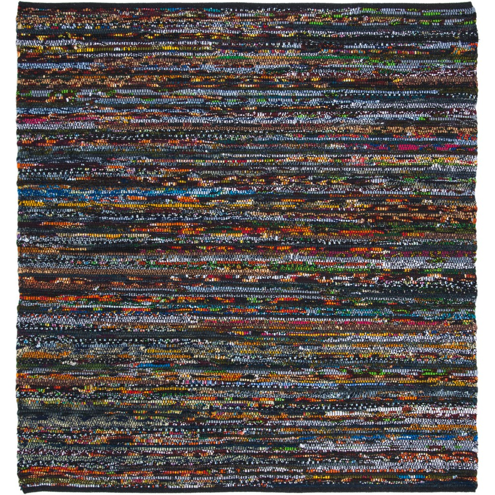 6'X6' Spacedye Design Woven Square Area Rug Black/Red - Safavieh