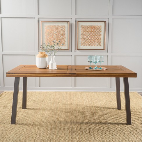 Sparta Acacia Wood Rectangle Dining Table Dark Brown Christopher Knight Home Target