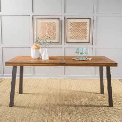 Ordinaire Sparta Acacia Wood Rectangle Dining Table   Dark Brown   Christopher Knight  Home : Target