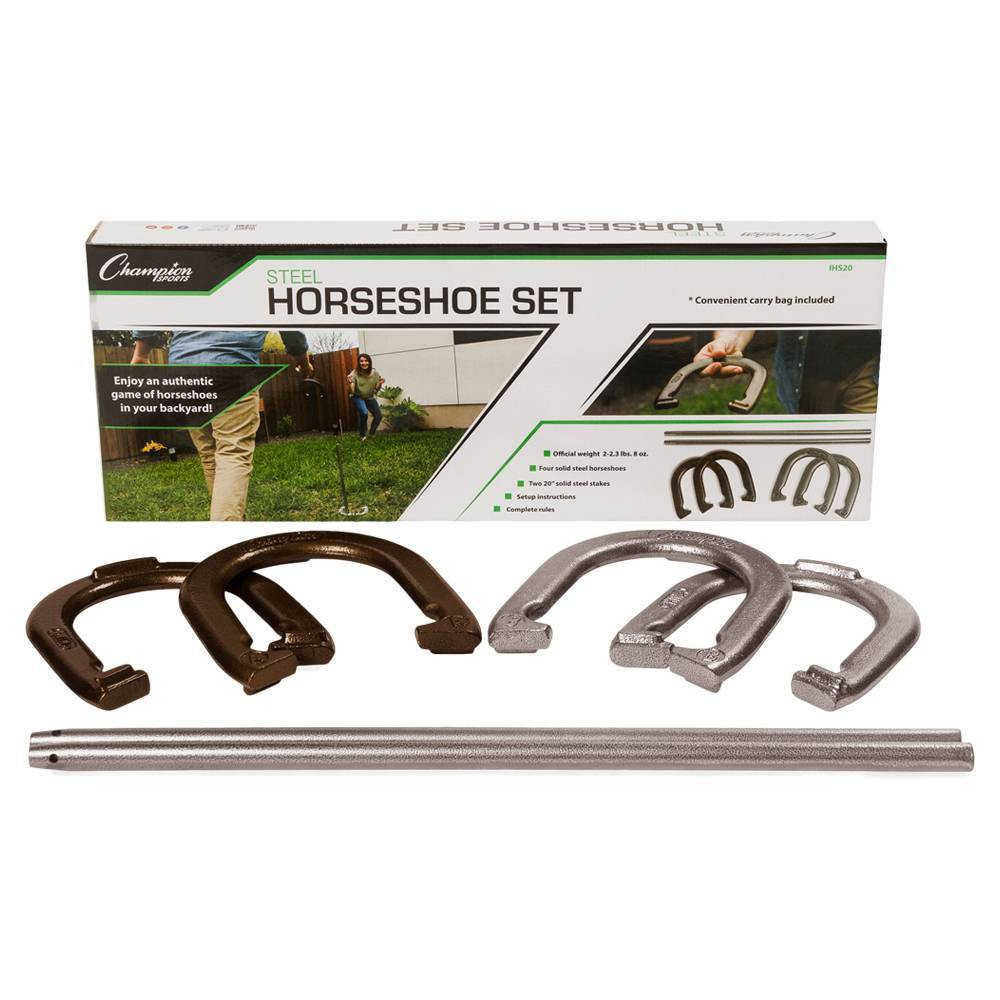 Image of Champion Sports Steel Horseshoes Set