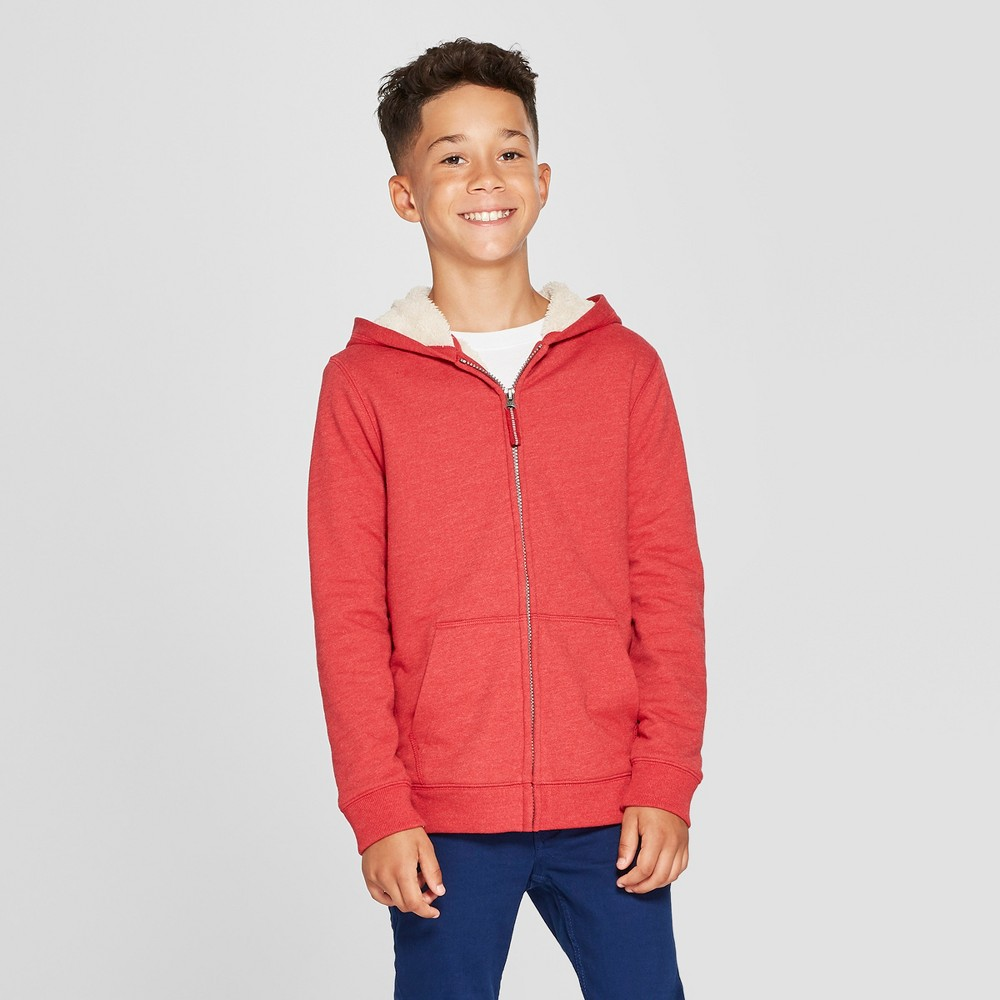 Boys' Sherpa-Lined Sweatshirt - Cat & Jack Red Xxl