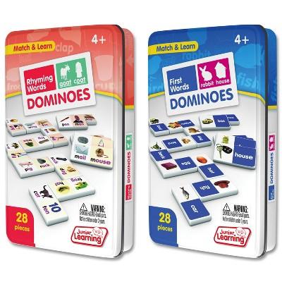 Junior Learning Rhyming & First Words Dominoes Game Set - 56 Dominoes