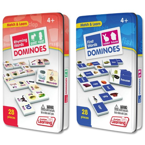 Junior Learning Rhyming & First Words Dominoes Game Set - 56 Dominoes - image 1 of 4