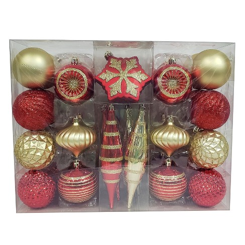 about this item - Red Gold And Silver Christmas Decorations