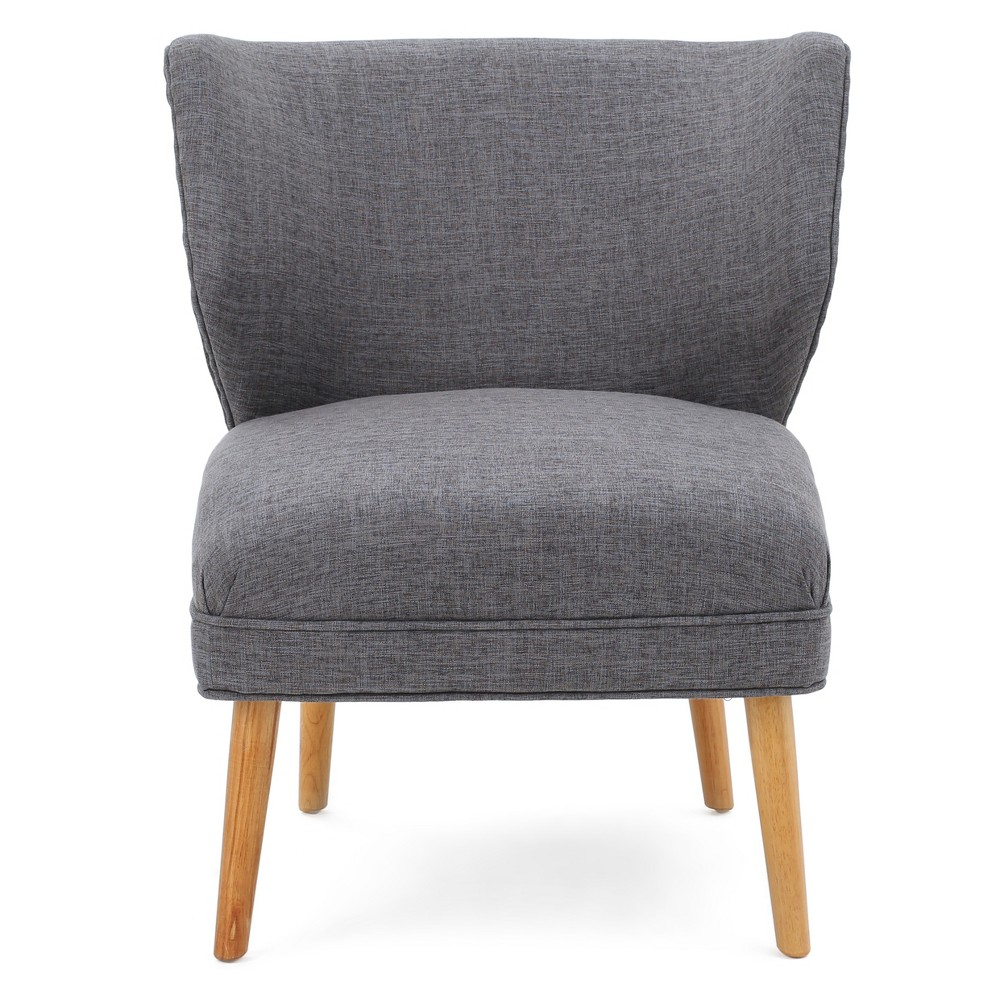 Desdemona Upholstered Chair - Light Gray - Christopher Knight Home