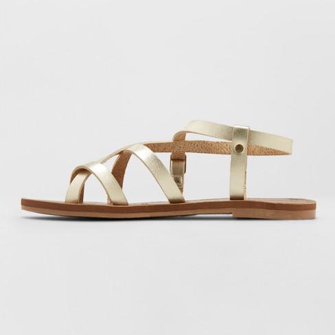 2ac6747752ca Women s Lavinia Toe Wrap Thong Sandal - Universal Thread™ Gold 6   Target