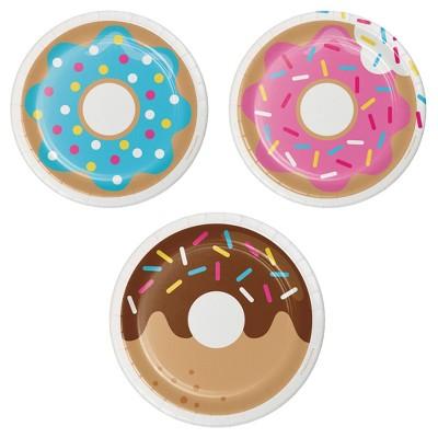 "Donut Time 7"" Dessert Plates - 8ct"