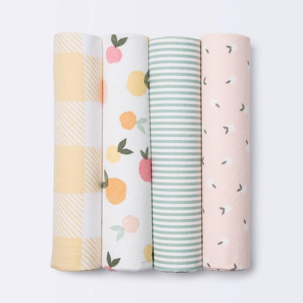 Flannel Baby Blankets Citrus Cloud Island 8482 4pk