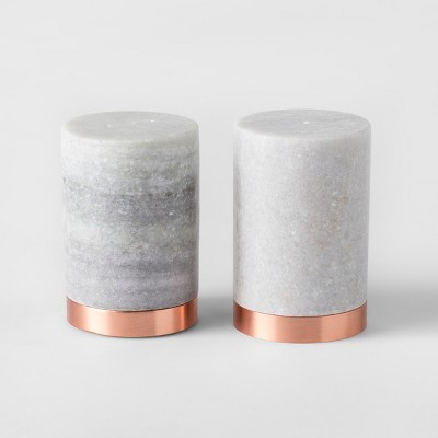 Marble Salt and Pepper Shaker Gray - Threshold™