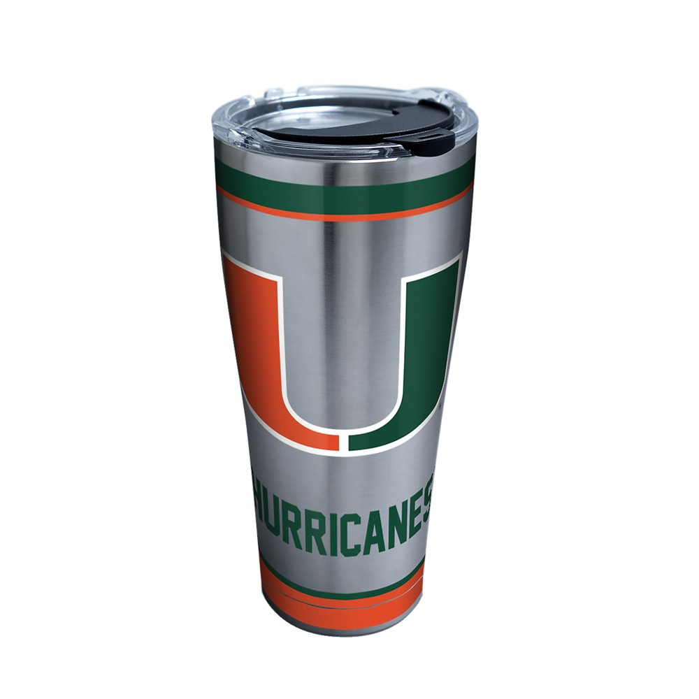 Tervis Miami Hurricanes Tradition 30oz Stainless Steel Tumbler with lid