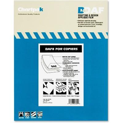 "Chartpak Drafting Film Permanent Matte 8-1/2""x11"" 100/PK DAF8"
