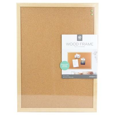 Ubrands Cork Bulletin Board Wood Frame 17 X23 Brown