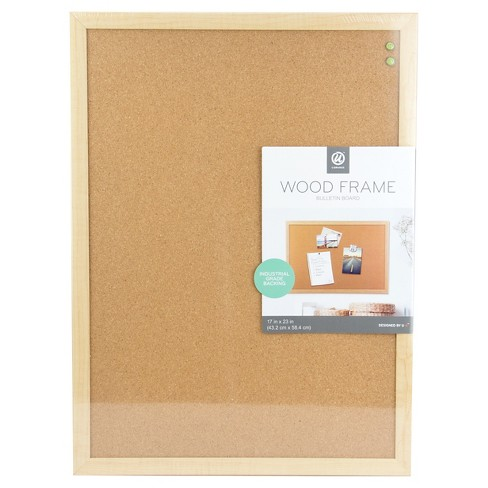 Ubrands Cork Bulletin Board Wood Frame 17 X23 Brown
