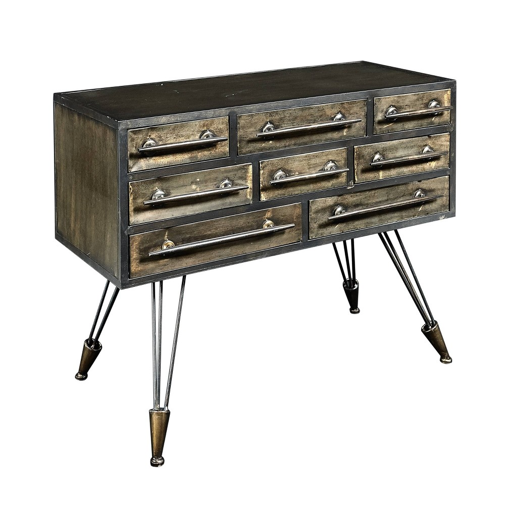 Cady Metal Console Brown - Linon Cady Metal Console Brown - Linon Pattern: Solid.