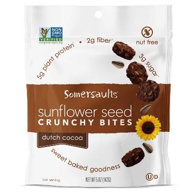 Somersaults Dutch Cocoa Sunflower Seed Crunchy Bites - 5oz