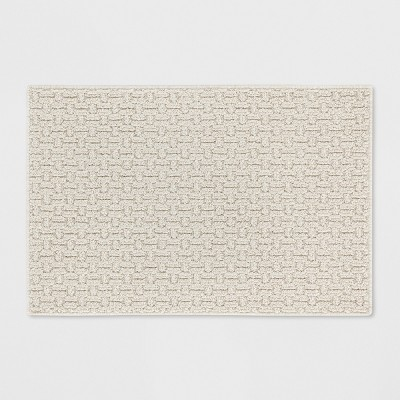 """1'8""""X2'6"""" Solid Washable Accent Rug Tan - Made By Design™"""