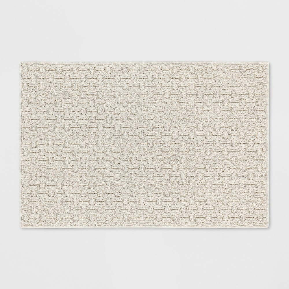 Solid Washable Accent Rug Tan