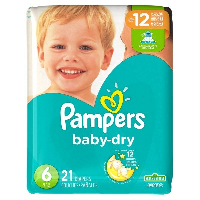 Pampers Baby Dry Diapers, Jumbo Pack - Size 6 (21 ct)