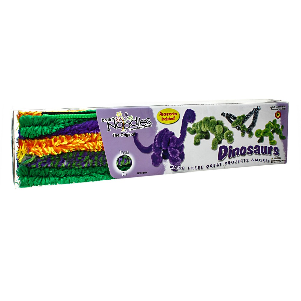 Image of Chenille Stems Activity Kits 12ct Dinosaur Pack Brain Noodles