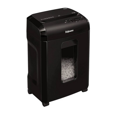 Fellowes MicroCut Shredder with Wastebasket, 10 Sheet Capacity - Black