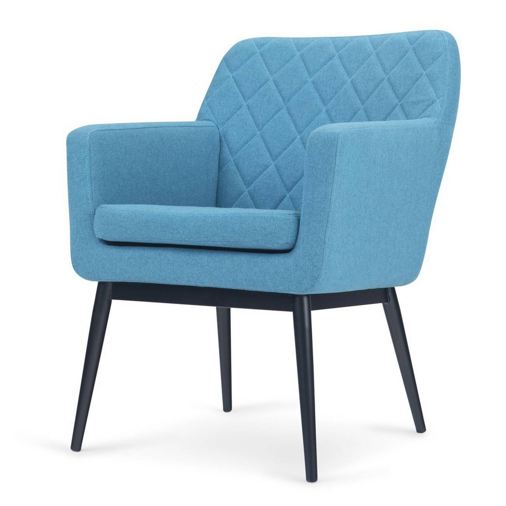 """Image of """"27"""""""" Anita Quilted Back Accent Chair Blue - Wyndenhall"""""""