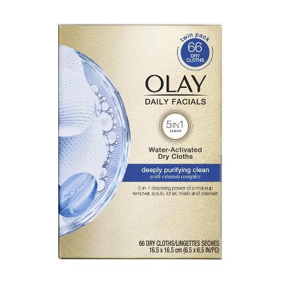 Facial Cleansing Wipes: Olay Daily Facials Deeply Purifying Clean