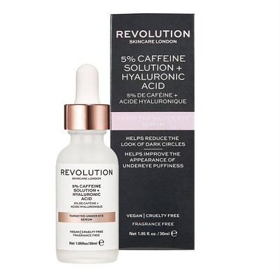 Makeup Revolution Skincare 5% Caffeine Solution & Hyaluronic Acid Under Eye Serum - 1.01 fl oz