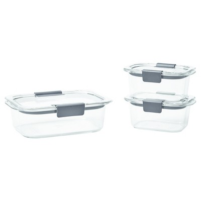 Rubbermaid Brilliance Food Storage Containers, Clear, 6-Piece Set