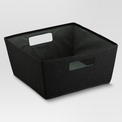 Fabric Half Bin - Black - Threshold™