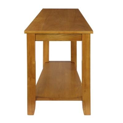Homelegance Elwell Collection Wood Modern Living Room Corner Side Stand Wedged Chairside End Table Table for Living Room, Oak