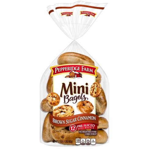 Pepperidge Farm Mini Brown Sugar Cinnamon Bagels, 17oz Bag, 12pk - image 1 of 4