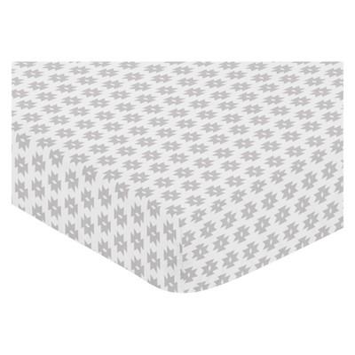 Sweet Jojo Designs Fitted Sheet - Aztec - White