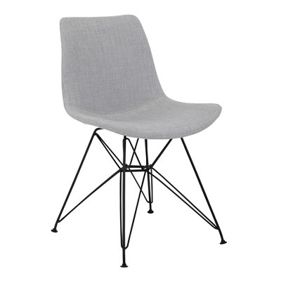 Palmetto Contemporary Dining Chair in Fabric with Black Metal Legs - Armen Living