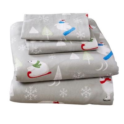 Home Fashion Designs 100% Cotton Printed Flannel Sheet Set