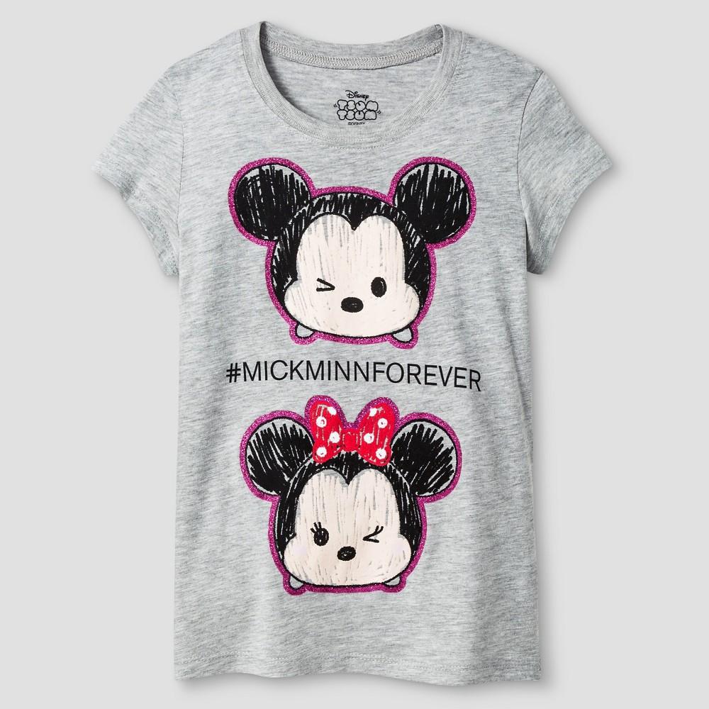 Girls' Disney Tsum Tsum T-Shirt - Gray XS, Size: XS (4-5), Heather Grey
