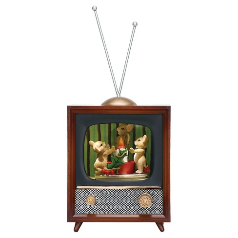 Mice & Elf Musical Television Decorative Figurine - image 1 of 1
