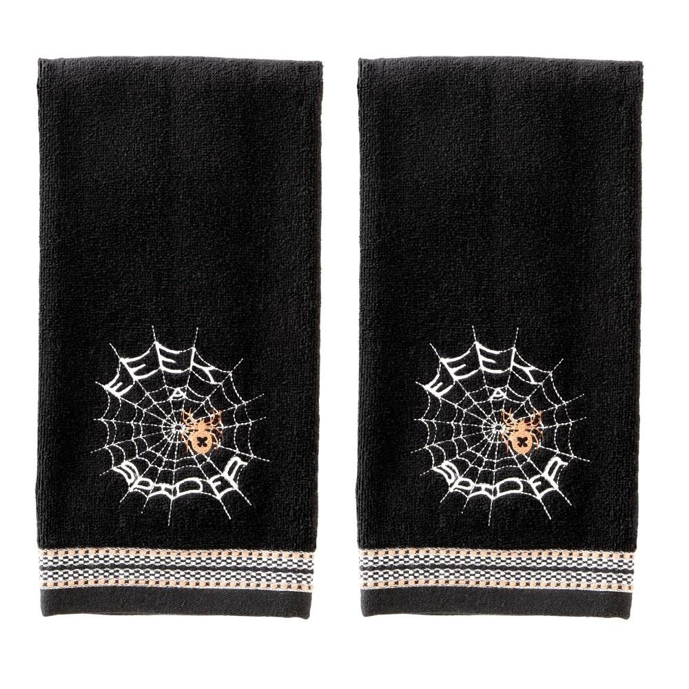 Image of 2pc Eek Spider Hand Towel Set Black - SKL Home