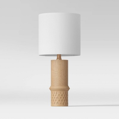 Textured Wood Dotted Accent Lamp Natural (Includes Energy Efficient Light Bulb)- Project 62™