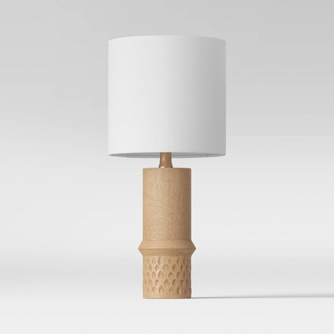Textured Wood Dotted Accent Lamp Natural (Includes Energy Efficient Light Bulb) - Project 62™ - image 1 of 4